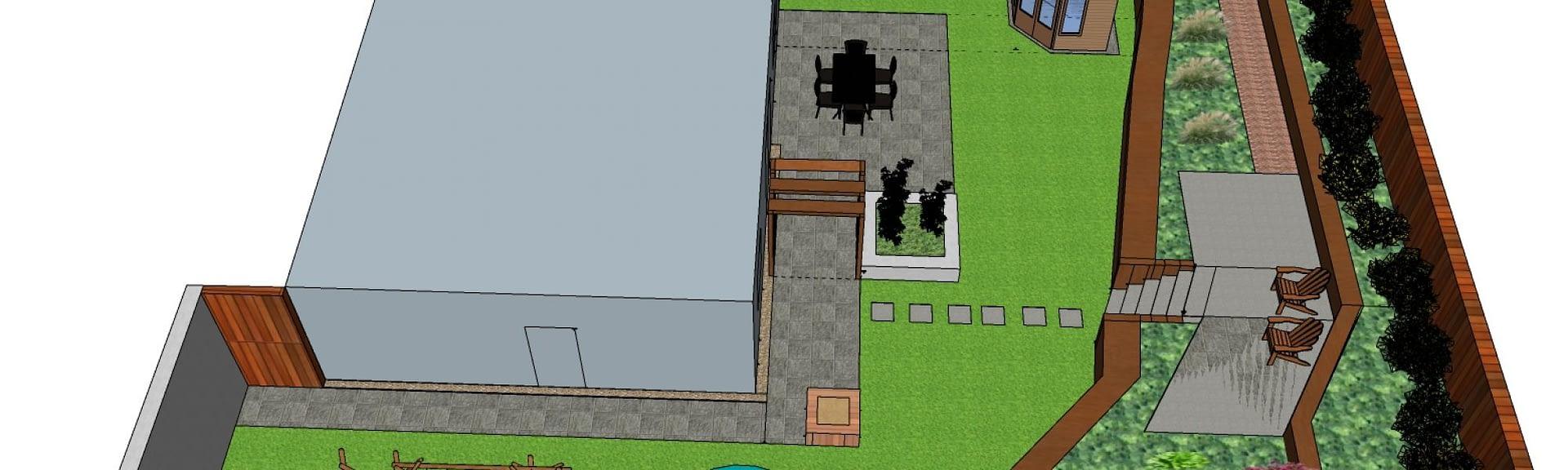 1332020 Lynne Adu Gerbera Designs Garden Design 3D model side view